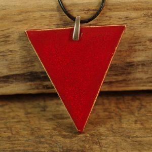 czerwony trójkąt