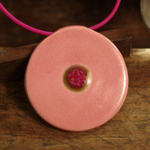 wisior różowo-różowy