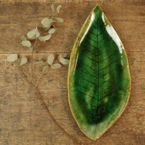 zielony listek podłużny