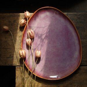 różowy talerzyk